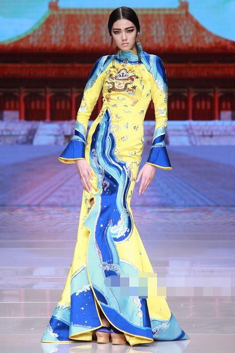"""查看 东北虎((Ne·Tiger)2016""""清·旗袍""""高级定制服装"""