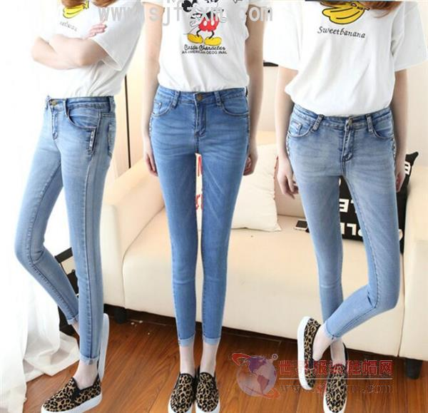 Fashion cheap jeans wholesale low-cost clearance women's clothing less than 10 yuan jeans wholesale