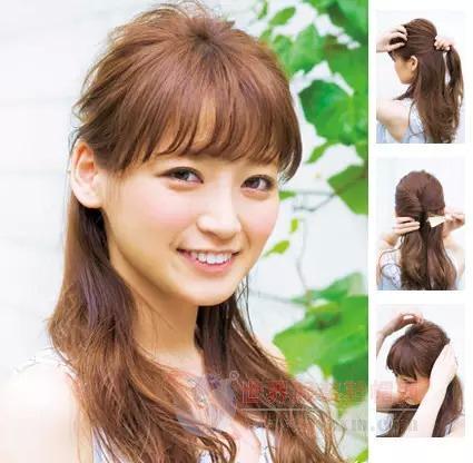 中长发日式编发,甜美可爱!