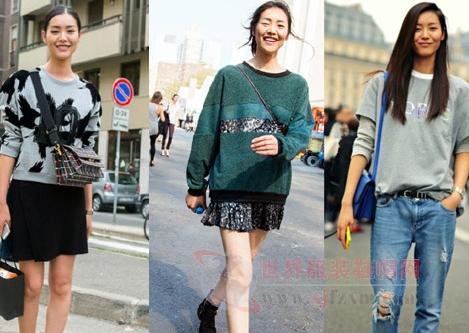 刘雯街拍很养眼 大长腿造型就是美图片
